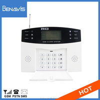 wireless gsm home sim card intruder alert keypad alarm system with voice announcement