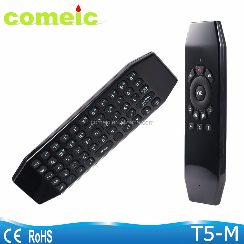 T5M Rechargeable 2.4GHz Fly Air Mouse Remote Control TV box with Micphone