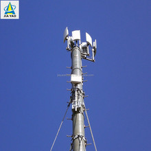 polygonal carbon steel radio telecom bts wifi gsm mobile phone antenna poles signal tower for telecommunication