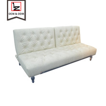 Luxury living room couch comfortable PU hotel sofa bed