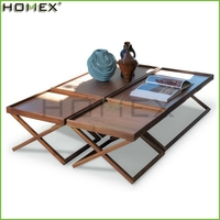 Modern Wooden Foldable Coffee Table/Folding Side Table/Homex_FSC/BSCI Factory