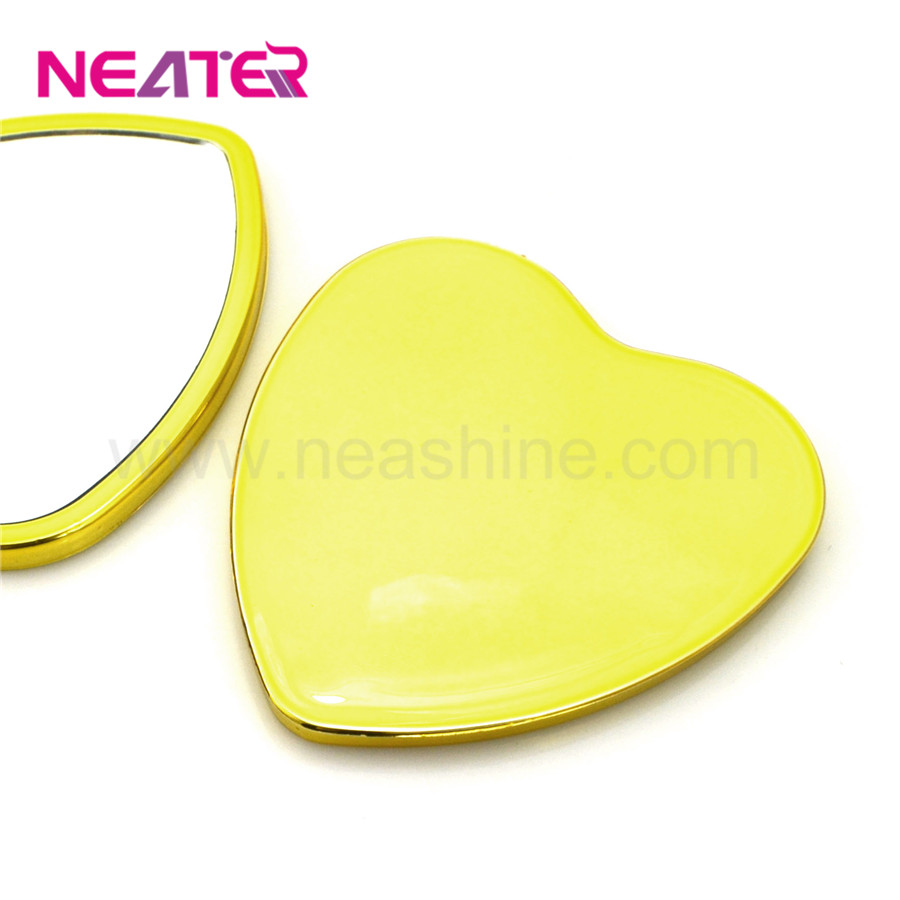 Plastic single side plastic small heart shaped mirrors for souvenir