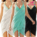 Wholesale Green/Black/White Beach Wrap Dress for Beach Party