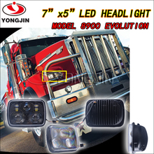 New Products! DOT Approval 5*7 square Led head Light for Jeep wrangler Fiero Suzuki motorcycle with low high beam led headlight