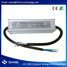 High PFC constant voltage 0/1-10v 12v 30w dimmable led driver, 12v waterproof power supply