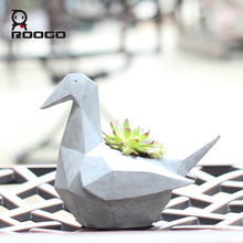 ROOGO Design Flower Decorative Resin Stone Animal Planter Pot for Sale