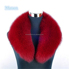Wholesale Price Maroon Fox Fur Shawl Collar for Fashion Girls Winter Clothes