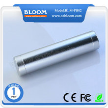 2600mah Portable Mobile power bank Cylinder USB charger for Promotional