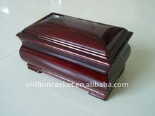 solid mahogany wooden cremation urn adult/child