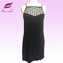 superior quality backless one piece sleeveless black women casual dress