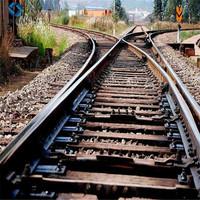 Railway Casted Crossing Turnout Switch Track for Sale