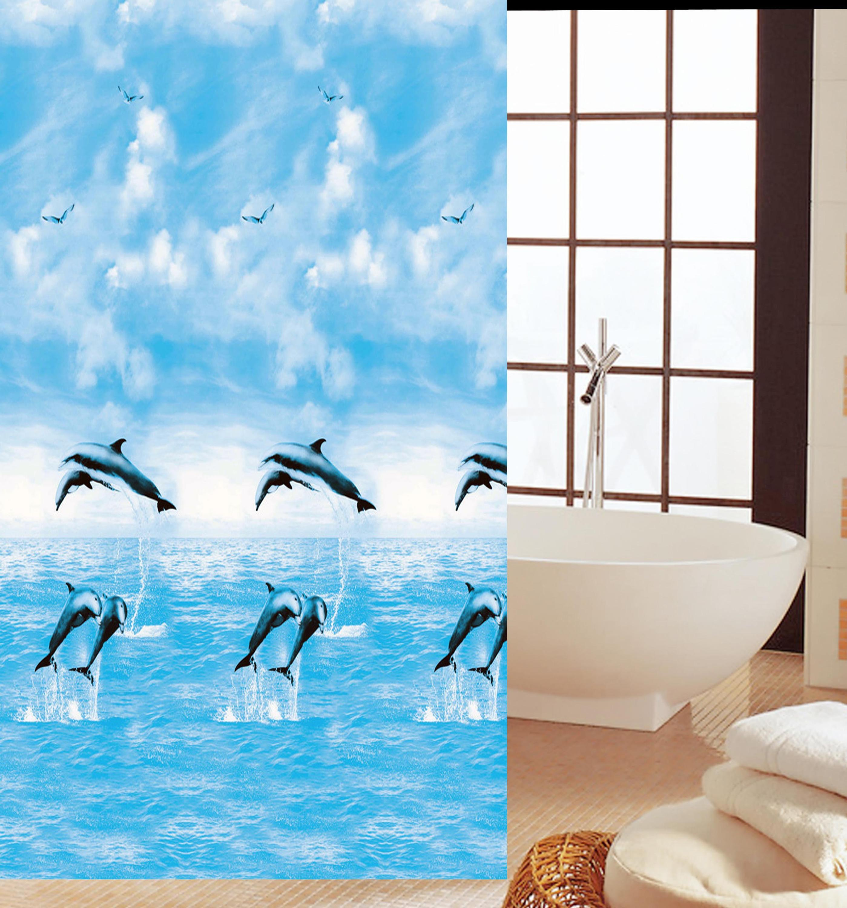 Hot selling fish pattern variety durable PEVA shower curtain
