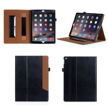 Hot selling Business Style Leather Case for iPad Pro 12.9 with sleeping function and factory price,tablet cover case