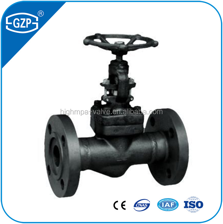 2016 Top sell 4 Inch DN200 Forged steel manual flanged Gate Valve for dirty water