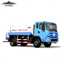 Water tank truck land and water vehicle
