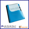 Transparent PVC cover office supply notebook