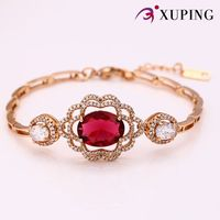 72482 Fashionable Fashion Jewelry 18k Gold Colour Charm Bracelet With High Quality Glass Indian Jewellery