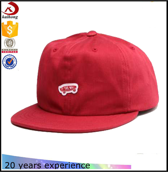 Alibaba wholesale plain 6 panel unstructured snapback hat