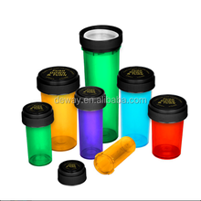 Assorted Colors Reversible Black Cap Vial 16 Dram