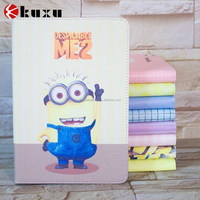 Low MOQ Sublimation lovely minions series image PC Folio cover case for ipad