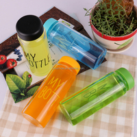 2014 New Arrival Fashion Portable Clear My Bottle Sport Bicycle Plastic Fruit Juice Water Cup 500ml Heathly Bottle