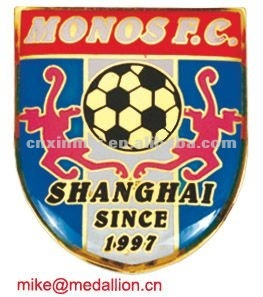 The badge for footbale league