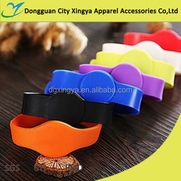 waterproof and durable silica gel access control rfid wristband with factory price