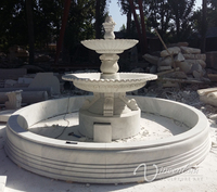 stone carving outdoor decoration garden 3 tier marble water fountain prices