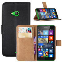 Premium Leather Stand Flip Book Wallet Case Cover For Microsoft Lumia 535