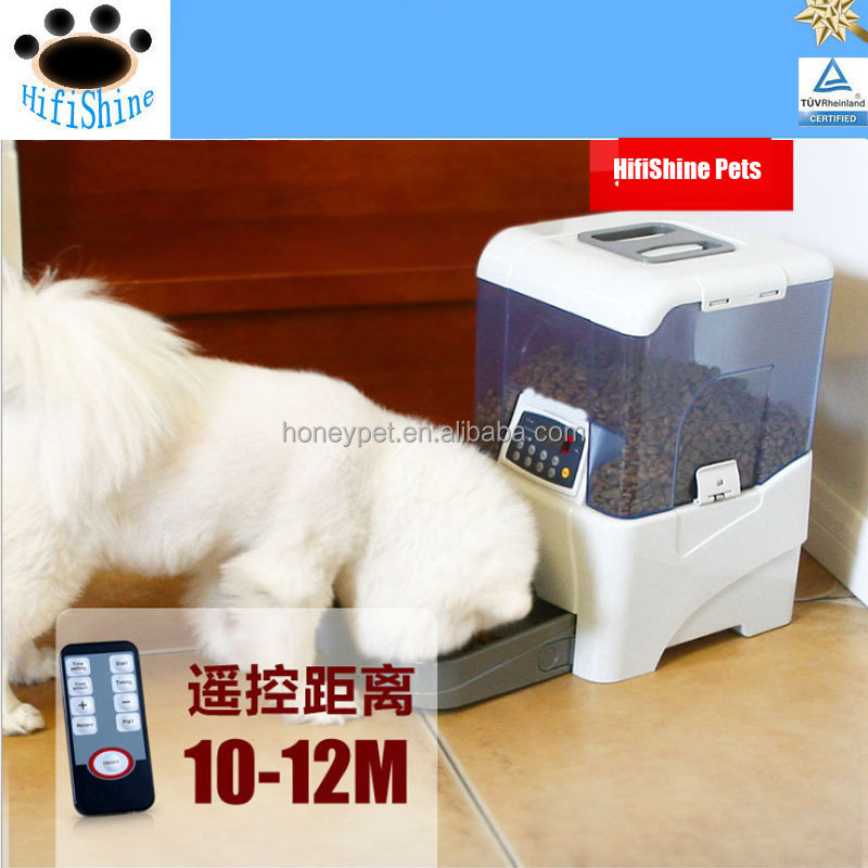 Popular Stylish Remote Controlled dog food dispenser with timer and 4 meal automatic programmable pet feeder
