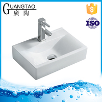 GT-425 bathroom basins new products countertop small size rectangular square laboratory ceramic sink