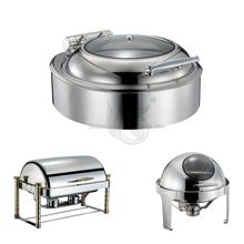 Luxury Hotel 9L Stainless Steel Roll Top Chafing Dish for Sale