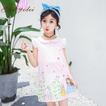 2019 new girls Korean young <strong>girl's</strong> princess skirt frock designs summer girls <strong>dress</strong> for kids