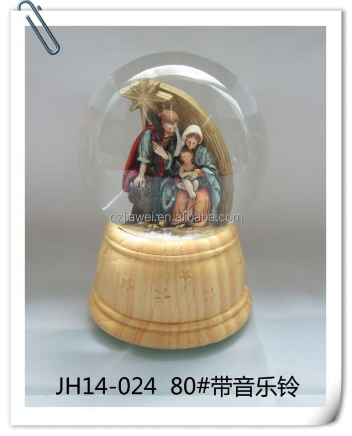 Wholesale jesus christ mary statue clear crystal glass christmas ornaments in bulk