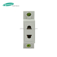 230V 16A/10A Din Rail 2 Pin Plug Socket