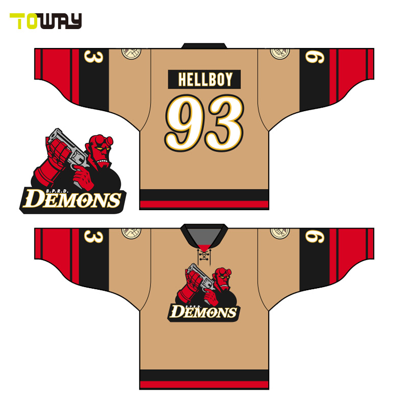 Customized sublimation printing men's hockey jerseys for sale