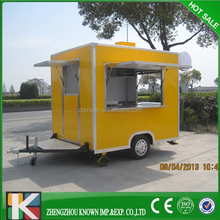 Mobile Kitchen Food Van / food trailer/China Multi-function Mobile Food Cart With Big Wheels