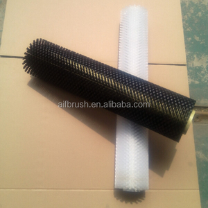 White soft nylon bristle conveyor cleaning roller brush