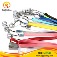 2014 popular and fashion colorful e cigarette lanyard/ego lanyard ring clips/e cig lanyard for vape