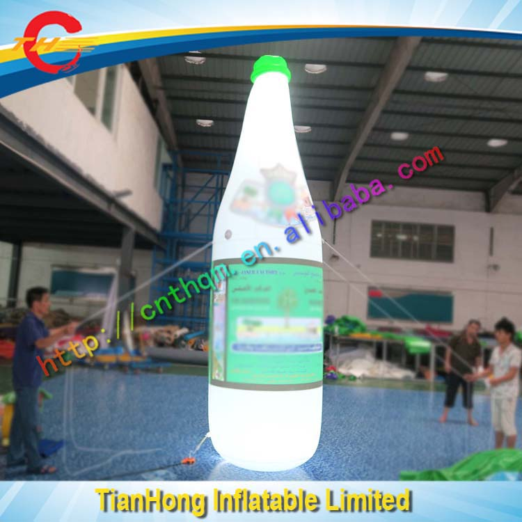 free design inflatable bottle with LED lights/advertising inflate bottle