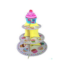 New Cupcake Treat Stand Wedding Cake Topper 3 Tier Holder Paper Stand Cake And Party Supplies