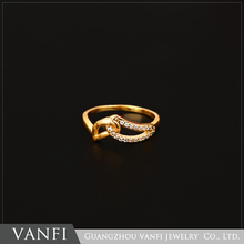 popular exquisite top selling gold plated elegant style new ring jewelry