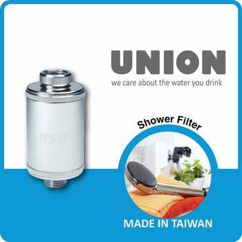 U-2026 /KDF Media55, Far Infrared-Ray Beads, Heavy Metal / Chlorine Removal Faucet Mount Shower Filter
