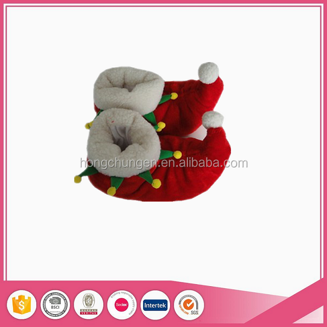 Hot selling popular Christmas animal house slippers for adults