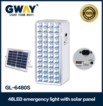 solar panel charging led emergency light with usb output