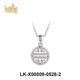 wholesale super quality jewelry 18k white gold plated AAA zircon pave brass interchangeable pendant necklace