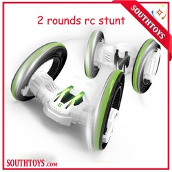 360 Degree Spins Around High Speed Remote Control Car 2 Rounds Tumbling Action Stunt Race Car with Lights