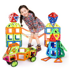 Magnetic Building Blocks Building Toy Plastic DIY Bricks Children Learning Educational building toy