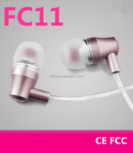 Ibrain Changjiang FC11 gold pink mobile phone accessories in china air tube anti radiation free headphones for ladies