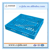 China supplier stackable Light Duty single faced HDPE gridding Plastic Pallet for sale